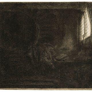 Rembrandt van Rijn (1606-1669) St. Jerome in a Dark Chamber, Rembrandt
