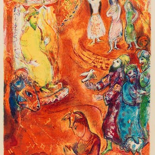 Marc Chagall (1887-1985) Now the King Loved Science and Geometry (Mourlot
