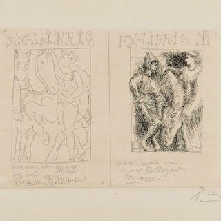 Pablo Picasso (1881-1973) Deux Ex Libris (Bloch 131, Baer 198 Ba)