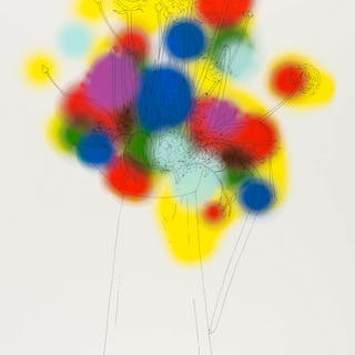 Nicolas Party (b.1980) Flowers and a Few Colours, Nicolas Party (b.1980)