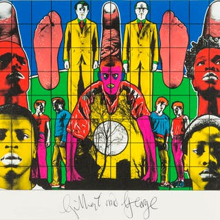 Gilbert and George (b.1943 & 1942) Death after Life, Gilbert and George