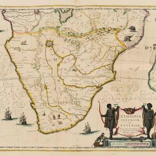 South Africa.- Jansson (Jan) Aethiopia Inferior, vel Exterior, [c.
