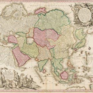 Asia.- Seutter (Matthäus) Asia cum omnibus Imperiis, Provinciis, Statibus