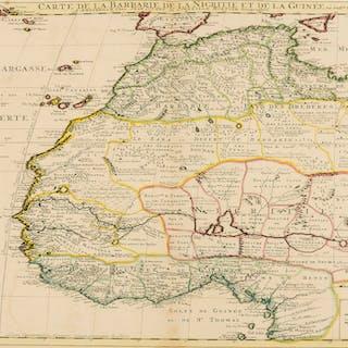 Africa.- De L'Isle (Guillaume) Carte de la Barbarie de la Nigritie