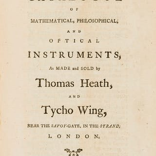 Mathematical & scientific instruments.- Trade catalogue.- Heath (Thomas)