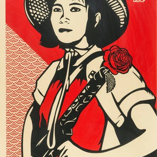 Shepard Fairey (b.1970) Revolution Woman, Shepard Fairey (b.1970)