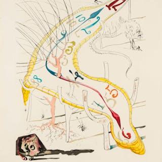 Salvador Dali (1904-1989) Les Montres gélatines de l'espacetemps (Field