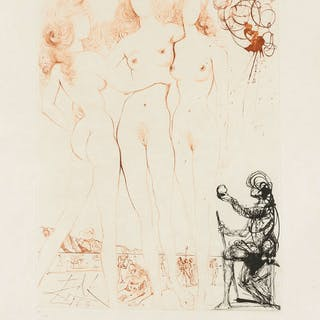 Salvador Dali (1904-1989) Judgement of Paris (Three Graces) (Field