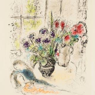Marc Chagall (1887-1985) Bouquet aux Amoureux (Mourlot 842; Sorlier