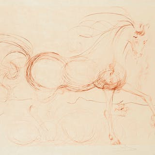 Salvador Dali (1904-1989) L'Etalon Blanc (Hommage au cheval) (Field