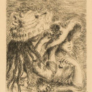 Pierre-Auguste Renoir (1841-1919) Three Etchings (Sur la plage, à