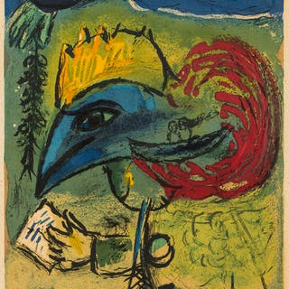 Marc Chagall (1887-1985) (after) Le Coq (Maeght 1203), Marc Chagall