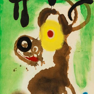 Joan Miro (1893-1983) (after) Four Pochoirs from 'Cartones' (Cramer