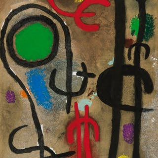 Joan Miro (1893-1983) (after) Three Pochoirs from 'Cartones' (Cramer