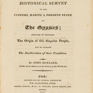 Hoyland (John) A Historical Survey of the Customs, Habits, & Present