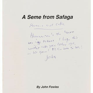 Fowles (John) A Seme from Safaga, first separately published edition