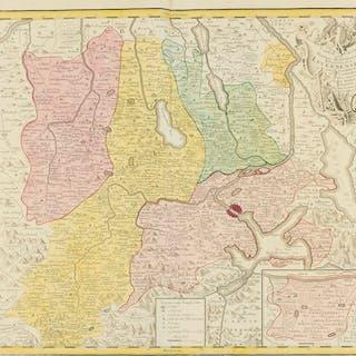 Switzerland.- Homann Heirs. Canton Lucern sive Illustris Helvetiorum