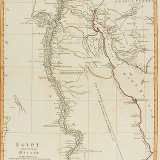 Egypt.- River Nile.- d'Anville (Jean Baptiste Bourguignon) Egypt Called