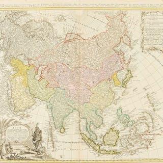 Asia.- Homann Heirs. Asia Secundum Legitimas Projectionis Stereographicae