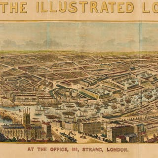 London.- Illustrated London News (The) [Panorama of the River Thames