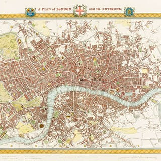 London.- Creighton (Robert) A Plan of London and its Environs, [c.