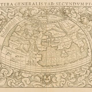 World.- Münster (Sebastian) Altera Generalis Tab. Secundum Ptol.