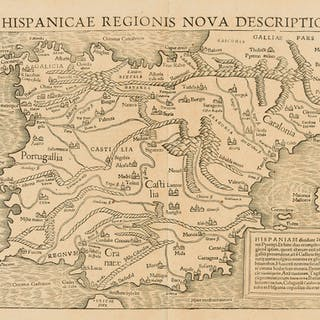 Spain & Portugal.- Münster (Sebastian) Hispanicae Regionis Nova Descriptio