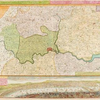 London.- Homann Heirs. Regionis quae est circa Londinum ... / Ausfuhrliche