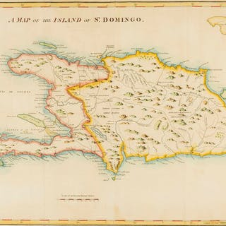 Caribbean.- Stockdale (John) A Map of the Island of St. Domingo, [1806].