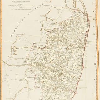 India.- Laurie & Whittle (publishers) A New Map of the Jaghir Lands