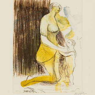 Henry Moore (1898-1986) Mother and Child XXVI (Cramer 696), Henry