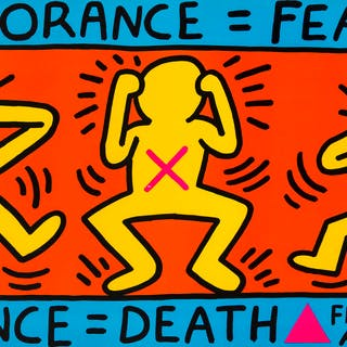 Keith Haring (1958-1990) Ignorance = Fear. Silence = Death. Fight