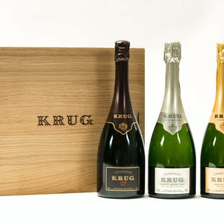 Krug Presentation Case 2004, 3 bottles, Krug Presentation Case 2004, 3 bottles
