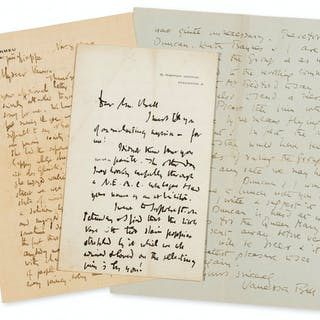 Sickert (Walter) 2 Autograph Letters signed to Vanessa Bell, 1880;