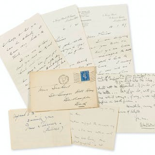 A small quantity of Autograph and Typed Letters signed to Walter Sickert