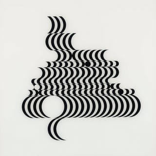 Bridget Riley (b.1931) Untitled (Fragment 2) (Schubert 5B), Bridget