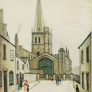 Laurence Stephen Lowry (1887-1976) Burford Church, Laurence Stephen
