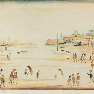 Laurence Stephen Lowry (1887-1976) On the Sands, Laurence Stephen