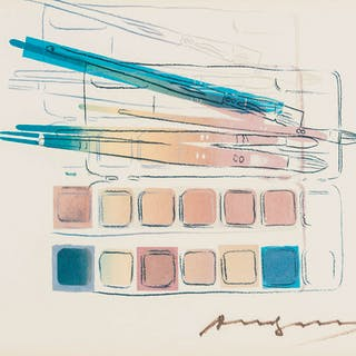 Andy Warhol (1928-1987) Watercolor paint kit with brushes (Feldman