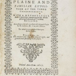 Pilgrim Press.- Dod (John) A plaine and familiar exposition of the