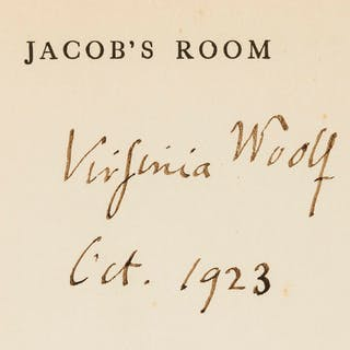 Woolf (Virginia) Jacob's Room, first American edition, signed by the