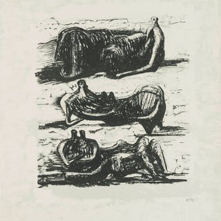 Henry Moore (1898-1986) Three Reclining Figures (Cramer 325), Henry