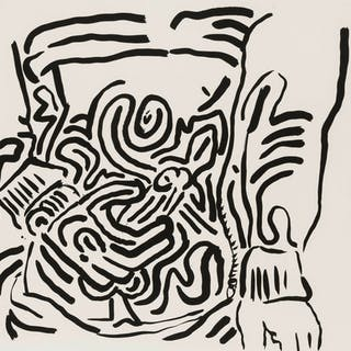 Keith Haring (1958-1990) One Plate, from Bad Boys (Littmann p.58)