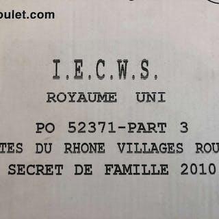 2010 Cotes du Rhone Secret de Famille, Paul Jaboulet Aine, Rhone