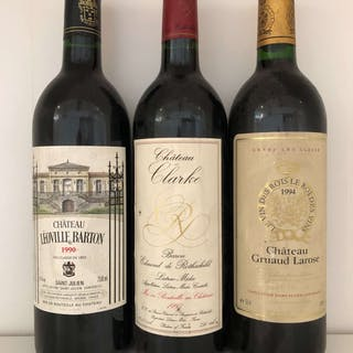 Various Mixed 1990s Bordeaux, France, 3 bottles, Various Mixed 1990s