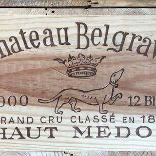 2000 Belgrave, Haut Medoc, Bordeaux, France, 12 bottles, 2000 Belgrave