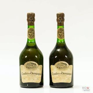 1969 Taittinger Comtes de Champagne, 2 x 75cl bottles, 1969 Taittinger