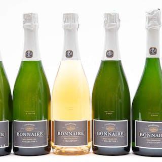Bonnaire Grand Cru Brut Collection Vertical, 5 x 75cl bottles, Bonnaire