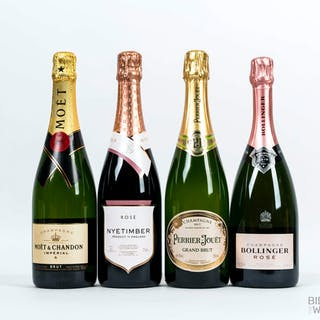 Various Vintages Assorted Sparkling, 7 bottles of 75cl.