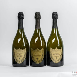 Various Vintages Dom Perignon Tasting Lot, 3 bottles of 75cl.